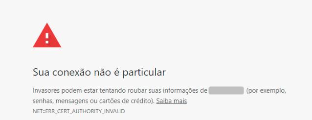 Site sem SSL - Aviso do Google